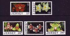 1988 Jersey. Orchids  SG 433/37 MNH