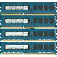 Hynix 32GB KIT 4 X 8GB PC3-14900E DDR3-1866Mhz ECC Unbuffered UDIMM Memory Ram