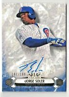 🔥2016 TOPPS TIER ONE JORGE SOLER BREAKOUT AUTOGRAPHS #'D 181/199🔥CHICAGO CUBS
