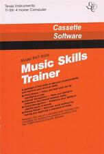 Ti-99/4A Cassette Music Skills Trainer To Test And Improve Musical Skills