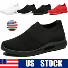 Slip-on Casual Shoes Men's Breathable Lightweight Tennis Running Gym Sneakers US
