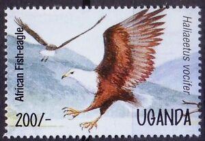 Uganda 1995 MNH, African Fish Eagle, Birds pf Prey, Raptors