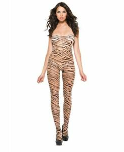 New Music Legs 1011 Crotchless Zebra Print Bodystocking