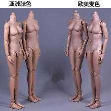 """Dark Suntan American Female Figure 12"""" Movable Hands Feet F 1/6 Women Head Toys"""