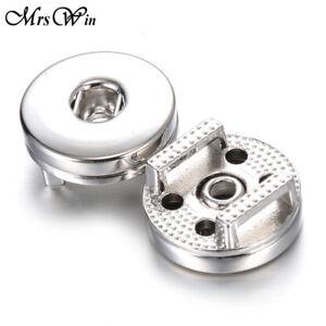 10pcs/lot Findings Slide Snaps Button Pendant Fit 12 18mm Snap Bracelet Jewelry