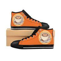 Cappuccino Heart - Scarpe sneakers alte da donna nere, rosa, arancio, verdi