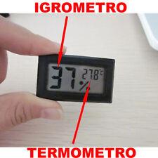TEMPERATURA IGROMETRO UMIDITA' CASA DIGITALE TERMOMETRO ESTERNO INTERNO fq