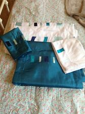 Single Duvet Quilt Set With  Pillow Cases And Runner Turquoise Blue