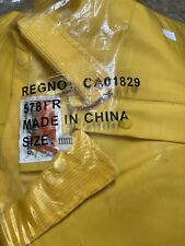 STORM MASTER Rain Suit Jacket Pants Hat 5XL New Open CA01829 PVC Flame Resistant