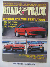 Road and Track Magazine   August 1985   Salon:1922 Amilcar CC/CGS--France