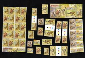 BULK AUSTRALIA'S AGE of DINOSAURS STAMPS 2 Booklets, 1 Minisheet, 5 Gutters etc