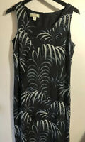 Tommy Bahama Womens 100% Silk Sleeveless Floral Tropical Print Maxi Dress Size 8