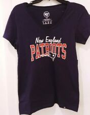New England Patriots 47 Brand Women's Super Soft V-Neck T-Shirt NWT Medium