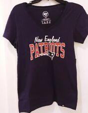 New England Patriots 47 Brand Women's Super Soft V-Neck T-Shirt NWT Large