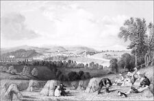 SCOTLAND (Berwickshire) - COLDSTREAM on TWEED view ENGLAND - Engraving from 19th