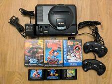 Sega Mega Drive Mk-1 Console Bundle 6 Games 2 Controllers Tested - Free P&P
