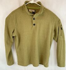 Unique Magellan Outdoors Mens Shirt Magwick Small Loose Fit Beige Zip Sleeve