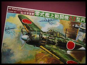 """Bandai A6m5 Zero Type 52 """" Zeke """" 1:24 Modèle Kit"""