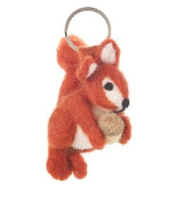 'Squirrel' Keyring Felt So Good Handmade Fair Trade Needle Felt