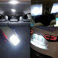 2x COB 39mm White Festoon Interior Dome LED Reading Light Car Xenon Bulbs Lamp