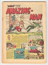 AMAZING MAN COMICS #6 NO COVER + CUT-OUTS CENTAUR 1939!