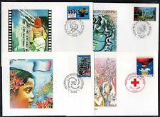 FRANCE / 1992-96 19 CARTES MAXIMUM FDC / COTE >70 € / 5 IMAGES (ref 5299)
