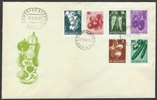 Bulgaria #1020-5 1958 Vegetables set of 6 on FDC