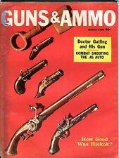 Guns & Ammo Magazine March 1960 ACC Reader's Copy No ML 091416jhe