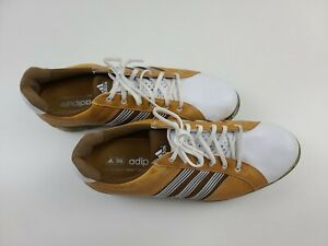 Adidas Adipure Tan Leather Mens Oxford Golf Shoes Size 9 EVG 791003 #107212601