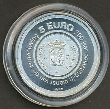 """Netherlands 2006 5 Euro Silver coin UNC - """"200 years of taxation"""" - Belasting"""