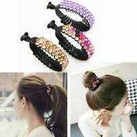 Fashion Women Hair Clip Crystal Claw Ponytail Bun Holder Hair Comb Hairpin Decor