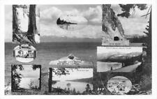 RPPC LAKE TAHOE Cal-Neva/Meeks Bay/Mt. Tallac ca 1930s Vintage Postcard