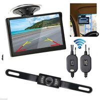 "5 ""TFT LCD Auto Retrovisore Monitor+Wireless Parking Visione notturna telecamera"