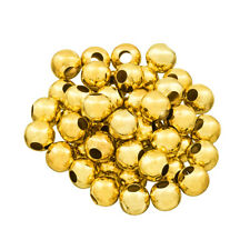 Round 7mm Gold Iron Spacer Beads Large 2.5mm Hole Pack of 50 (C83/19)