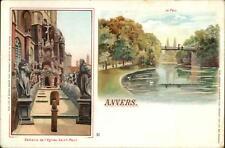 Anvers Antwerp Belgium Calvaire de L'Eglise Saint Paul c1900 Postcard