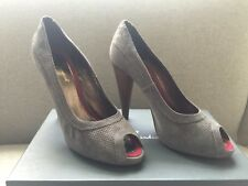7 for all mankind grey suede high heels open toe shoes