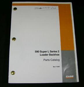 CASE 590 Super L Series 2 Loader Backhoe Tractor Parts Manual Book Catalog OEM