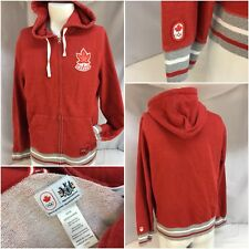 Canada Hudson Bay Co. Olympic Hoodie Jacket M Red Cotton Poly Full Zip YGI 8517