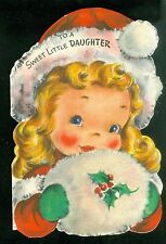 To A Sweet Little Daughter - Die-cut Christmas Cd - Hallmark 1949