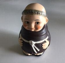 Vintage Goebel Friar Tuck Monk Sugar/Jam/Condiment Bowl W. Germany V Bee Stamp