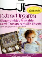 ExtravOrganza Fabric Sheets - Silk - Use with inkjet Printers and Copiers!