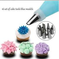 16pcs Cake Mold Decor Mounting Frosting Icing Baking Pipping Nozzles Tip Moulds