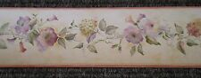 Multi-Color Flowers on Yellow-Beige Faux Border by Fine Decor B.4972