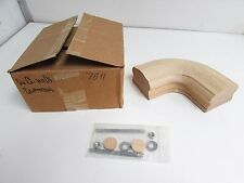 Solid Red Oak 7811 Level Quarter Turn Fitting Handrail Banister Stair Rail *Nib*