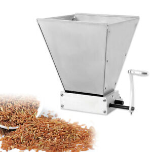Brew Grain Mill Barley Grinder Malt Crusher Malt Crusher 2 Rollers Wet/Dry X-142