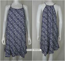M&S Summer Dress Ladies Strappy Beach Sun Swing Blue Navy White Print Sizes 8-22