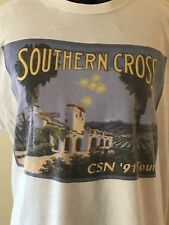 Vintage 1991 RARE CREW Crosby Stills & Nash CSN Southern Cross SHIRT Neil Young