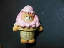 Lucy & Me Enesco Bear ~ Ice Cream Cone ~ Porcelain Figurine Rigg