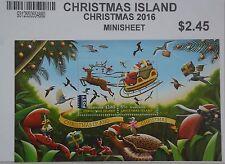 Christmas Island Australia Minisheet of Two 2016 Christmas Stamps...New