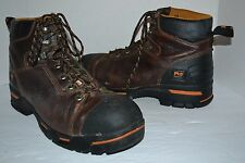 "TIMBERLAND PRO MEN'S ENDURANCE PR 6"" STEEL TOE 52562 BROWN LEATHER 13 M $160"